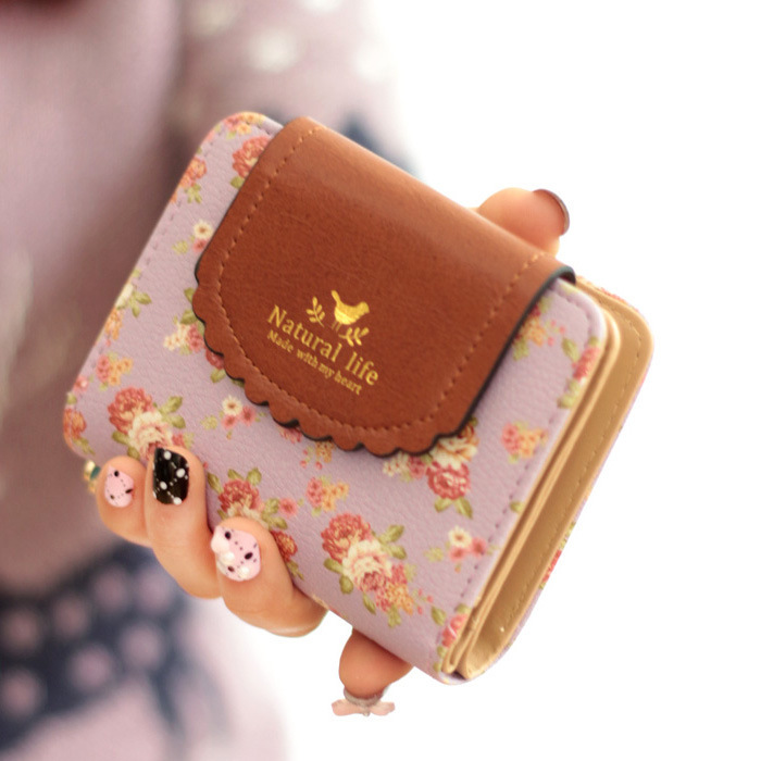 Purse Fashion Women Wallets PU Leather Card Holder Short Ladies Coin Purse Lady Wallet Small Bags for Female