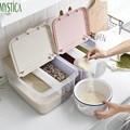 Домашняя кухонная коробка для хранения еды  пластиковый контейнер для хранения зерна риса  зерновых бобов  контейнер для сушеных продуктов