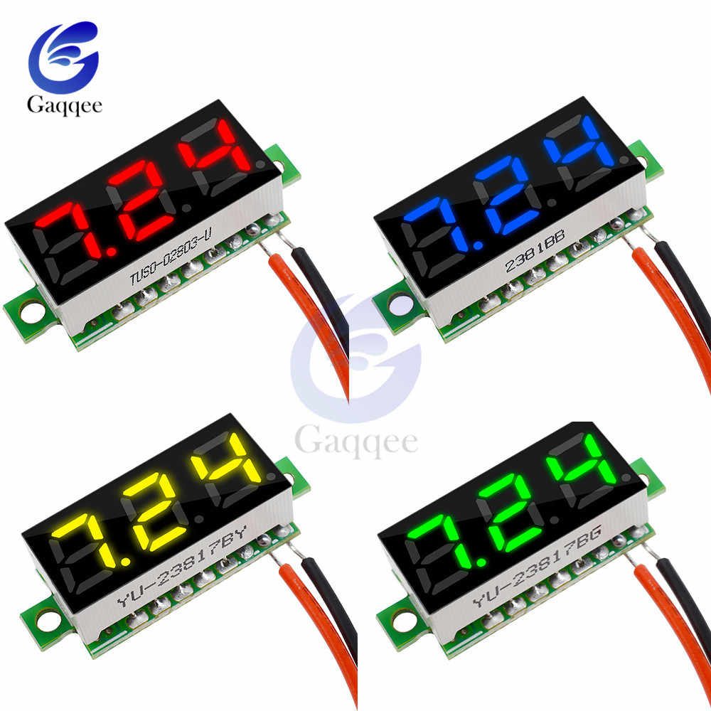 "New 0.28"" DC 3.5-30V Super Mini Digital LED Car Voltmeter Voltage Volt Panel Meter Battery Monitor 12V 24V red green blue yellow"