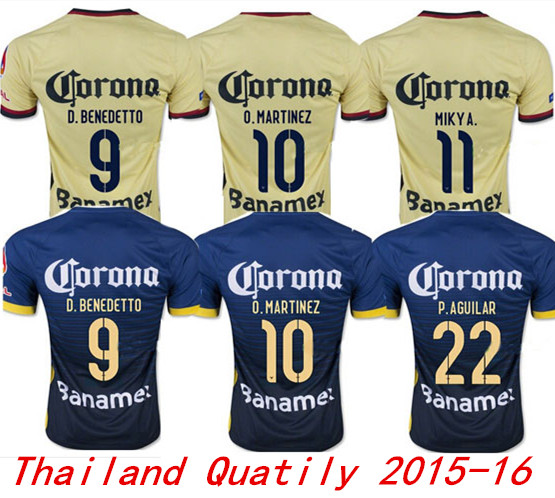 bbf3d68205e1b camisetas de Futbol Mexico Club America jersey 2016 MICKY M.LAYUN O.PERA  America soccer jerseys 15 16 football shirts