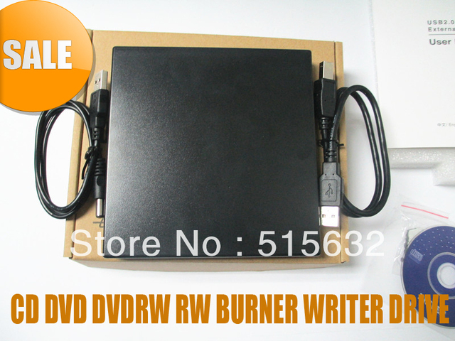 NEW EXTERNAL DUAL LAYER USB 2.0 CD DVD DVDRW RW BURNER WRITER DRIVE FOR ALL PC BLACK