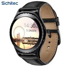 Schitec smart watchที่มีระยะไกลกล้องบลูทูธนาฬิกาทำงานเพลงกีฬานาฬิกาสามารถโทรศัพท์มือถือสำหรับหุ่นยนต์xiaomi samsung
