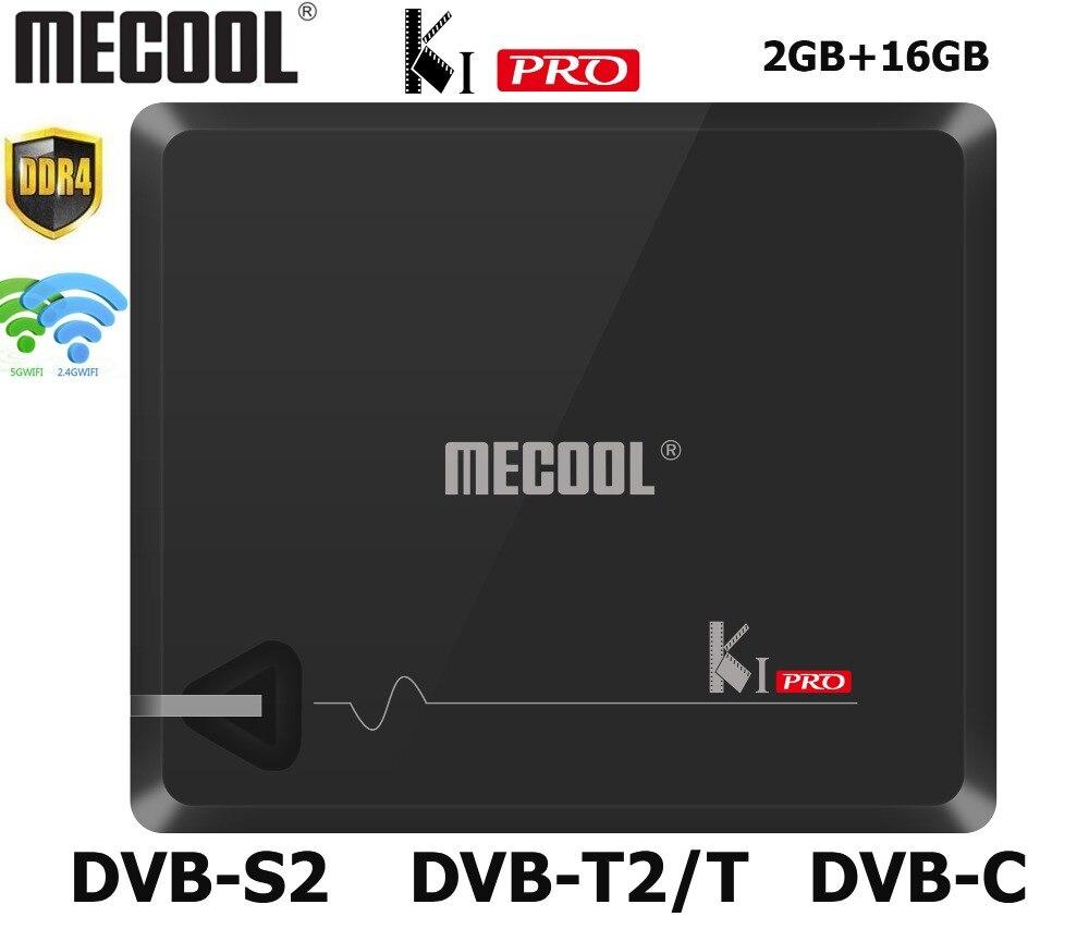DDR4 Mecool KI PRO Smart TV Box With DVB T2 DVB S2 Android TV Box Amlogic