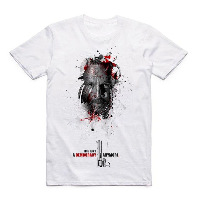 Art Pattern Walking Dead Rick Karl Grimes Glenn Summer Modal Casual Style Men 39 s T shirt in T Shirts from Men 39 s Clothing