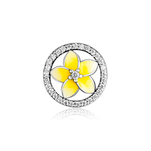 CKK Genuine 925 Sterling Silver Hollow Yellow Rose  Charm Beads for Pandora Bracelet DIY Jewelry