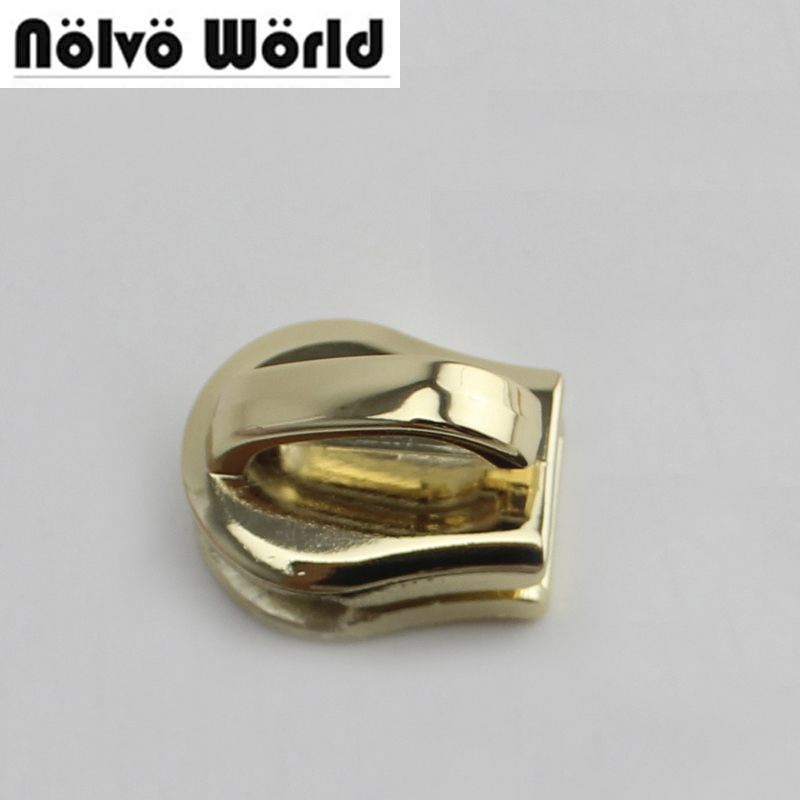 Symbol Of The Brand 50pcs 12# 15# Metal Teeth Zipper Head Gold Light Gold Silver Color Zip Parts,no.12 15 Zip Slider Selected Material Luggage & Bags