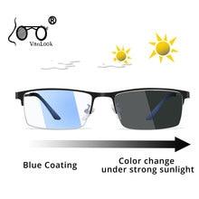 Photochromic Sunglasses Chameleon Lens Blue Light Blocking Mens Glasses for Computer Eyeglasses Gaming Protection Ray