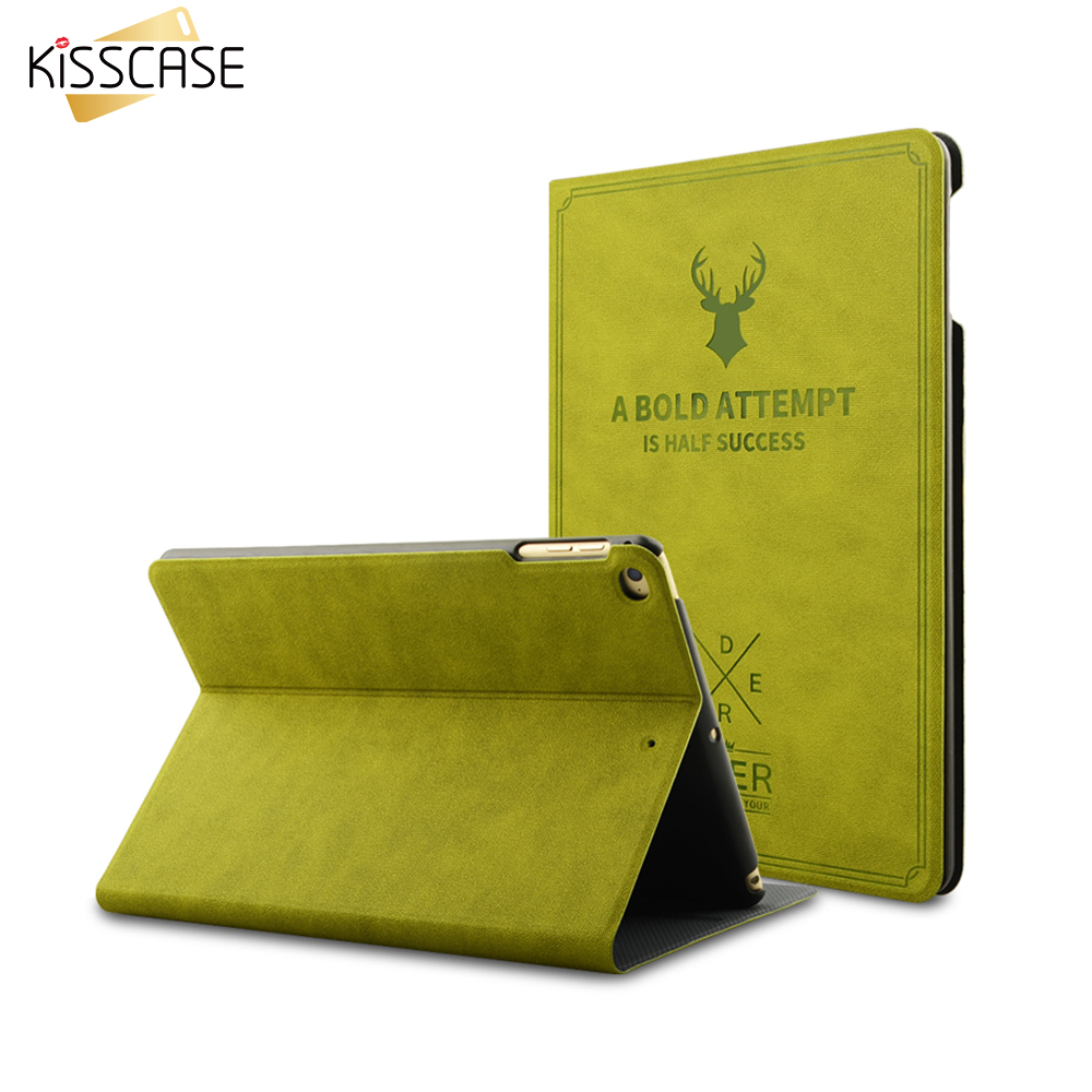 KISSCASE Deer Pattern Smart Wake Up Case For iPad Mini 1 2 3 4 Ultra Thin Flip Leather Stand Protect Cover For iPad Mini 1 2 3 4