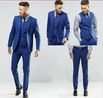 Hot Sale 3 Pieces Smart Best Men Wedding Suit Groomsmen Slim Fit Formal Suit C146