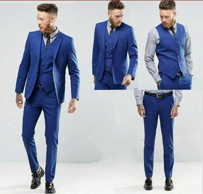 Hot Sale 3 Pieces Smart Best Men Wedding Suit Groomsmen Slim Fit Formal Suit C146