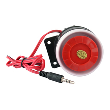 Wired Alarm Siren Horn 120db Indoor For Home Security Alarm System  GSM alarm with 3.5mm Plug Connector