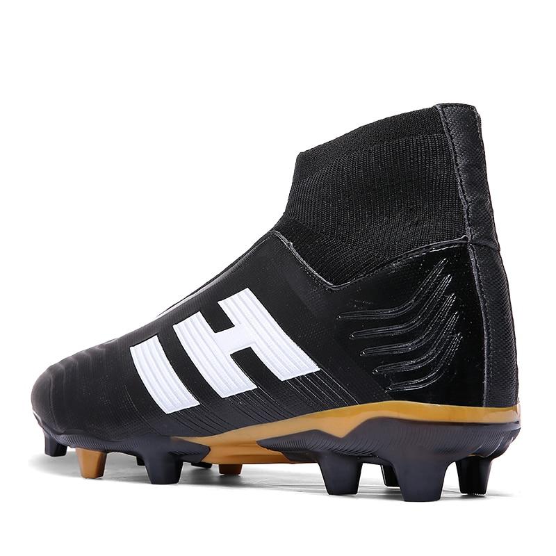 7efdf6505a33 Купить Новые мужские уличные футбольные бутсы для взрослых, высокие  футбольные бутсы, спортивные кроссовки, большие размеры 35 45 Цена Дешево.