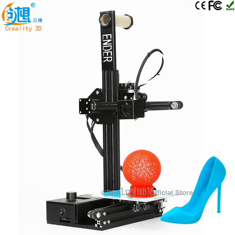3 d printer CREALITY 3D Ender-2 Cheap 3D Printers Metal frame 3d printer machine Reprap prusa i3 3d printer kit DIY filaments flsun 3d printer big pulley kossel 3d printer with one roll filament sd card fast shipping