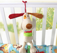 New Musical Baby Bed Hanging Dog Plush Rattle Educational Toys Crib Bed Stroller Cot Hanging Soft