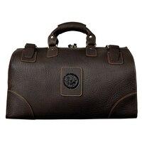 Винтаж Чемодан путешествия сумки спортивный костюм Человек Кожаный саквояж Высокое качество 18 Большой Ёмкость Для Мужчин's багажные сумки
