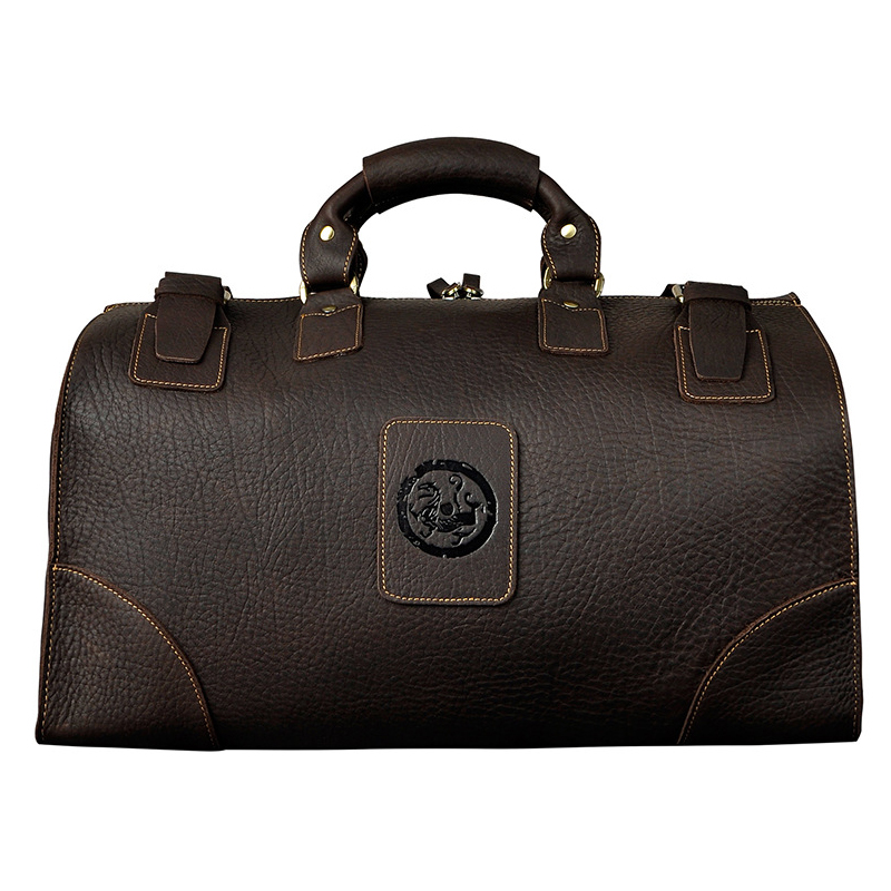 Vintage Luggage Travel Duffle Bags Man Genuine Leather Trave