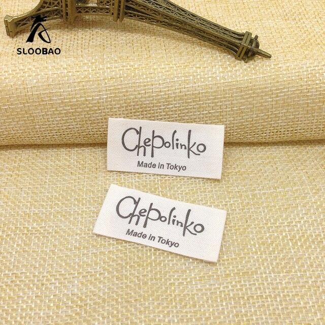 Abbigliamento su misura etichette etichette di abbigliamento etichetta di  cotone stampato produzione Trademark tessuti 14e4810fdd3