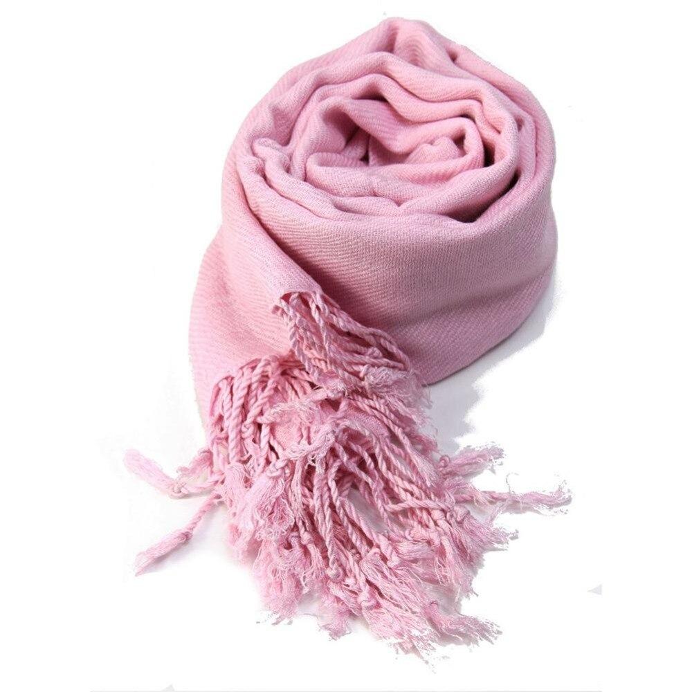 Pashmina Scarf 100/% Viscose Plain Wrap Shawl Stole Scarf Solid Tassel Scarves