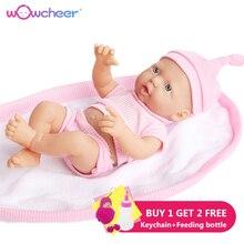 WOWCHEER Ручная работа новая Реалистичная кукла-младенец Мягкие Силиконовые Куклы Kawaii живые Игрушки для девочек детей 23-50 см с подарком