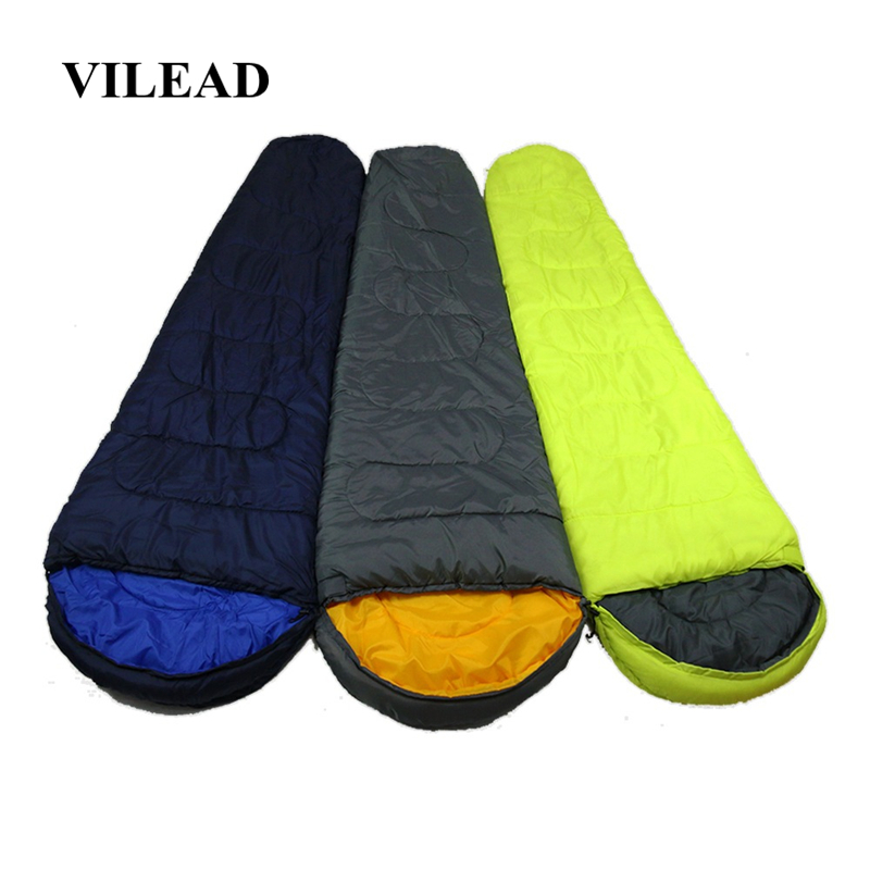VILEAD 2 Colors Mummy type Ultralight Sleeping Bag Portable Waterproof Hiking Camping Sleep Bed Stuff Adult Quilt Lightweight-in Sleeping Bags from Sports & Entertainment