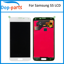 цена на 50Pcs LCD For Samsung Galaxy S5 i9600 G900 G900F G900M No Dead Pixel Touch Digitizer Screen Assembly Replacement AAA+++Quality