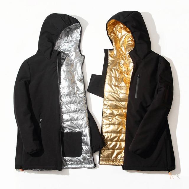 Lange Winterjas Zwart.Lange Winterjas Mannen Merk Kleding Mannelijke Katoen Nieuwe Top