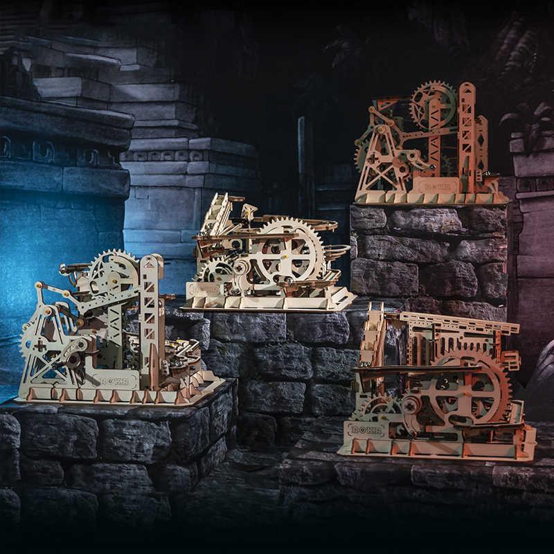 Robotime 4 أنواع Run بها بنفسك تشغيل لعبة خشبية والعتاد محرك نموذج بناء مجموعات الميكانيكية هدية للأطفال LG501-LG504 ل دروبشيبينغ