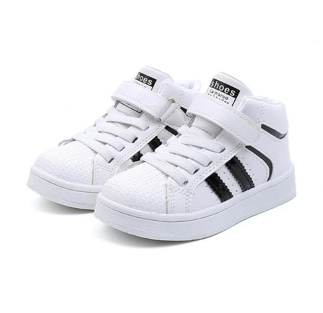 Fashion Children Casual Shoes Baby Boys Girls Martin Boots Kids Running Shoes Kids Brand Sport White Shoes Child Shelle Sneakers