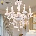 Европейский стиль  белые хрустальные люстры  Современные светодиодные люстры для гостиной  свадебные украшения