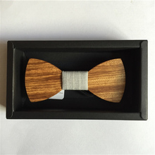 Fashion bow tie Accessory Cherry wooden Arc bowtie for men butterfly wood knot gentleman wooden bow