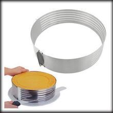 Dhl ИЛИ ems 50 шт. слайсер из нержавеющей стали, регулируемый слой, форма-слайсер, слой, нож для нарезки торта, набор прессформы для нарезки коржей, резак