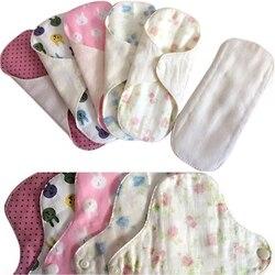 4 teile/los mit ein Pad Beutel für Freies Tuch Menstruation Sanitär Pad Reusable Tuch Panty Liner Waschbar Feminine Hygiene