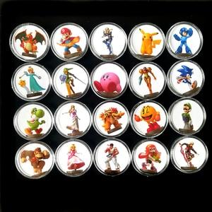 Image 1 - 20Pcs Collection Coin Card Of Amiibo Super Smash Bros Data Setting Ntag215 NFC Tag Sticker Printed NS Switch Wiiu Fast Shiping