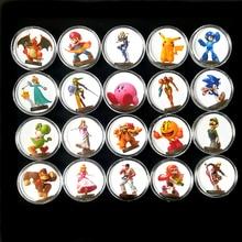 Colección de 20 piezas, tarjeta de moneda de Amiibo Super Smash Bros, configuración de datos Ntag215, etiqueta adhesiva NFC impresa, interruptor NS, Wiiu, envío rápido