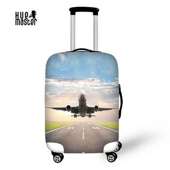 Akcesoria podróżne bagaż okładka samolot projekt pokrywa do walizki wodoodporny elastyczny bagaż etui z zamkiem błyskawicznym tanie i dobre opinie 72cm do 0 2 kg 50cm Pokrowiec na bagaż 20cm S M L XL 90 poliester 10 spandex 250g papier kredowany MISTRZ HUE Stałe