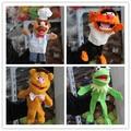 Бесплатная доставка 1 шт. Маппет Шоу плюшевые куклы-марионетки, Лягушонок кермит, Фоззи Медведь, барабанщик, Шведский Шеф-Повар, куклы для детей игрушки