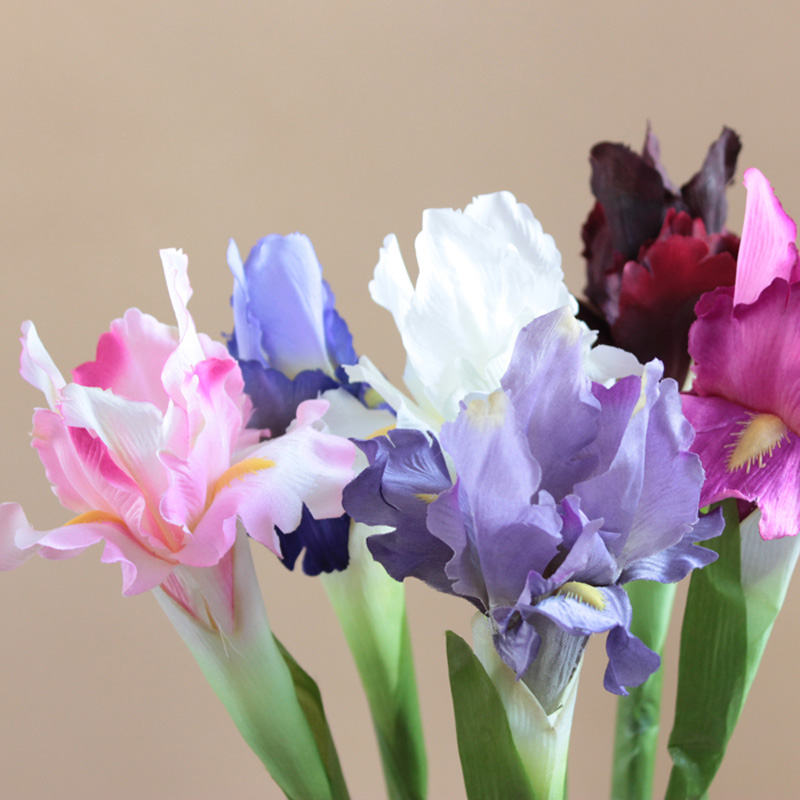 high quality 68cm artificial flowers with leaf iris fake flowers artificial plants wedding decoration 10pcs free