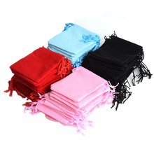 De Bijoux 100Pcs Mix Color 10x12cm Velvet Jewelry Gift Packing Bags Velvet pouch,Christmas/Wedding Gift Bag pochette cadeau