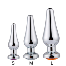 S/M/L Intimate Stainless Metal Anal Plug With Crystal Jewelry Smooth Touch Butt Plug  Anal Bead Anus Dilator Sex Toys for Adults