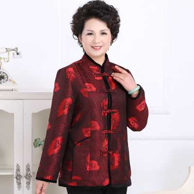 2016 new design winter Winter Coat Women 2016 New Design Chinese Style Vintage Print Thicken Cotton Padded Parkas Fashion Mother Down Jackets A4259