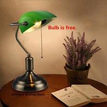 Green Desk Lamp Powerbank Table Light Office Lamparas Escritorio Decoracao Reading Lights Vintage Lustre Bedside Modern
