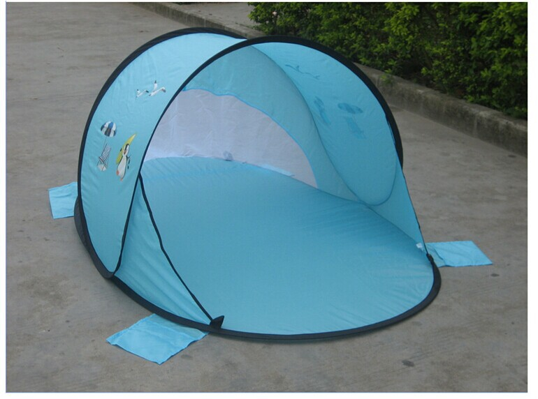 Quick opening children tent baby silver glue crawling beach tent outdoor sunshade beach boat account Free shipping-in Tents from Sports u0026 Entertainment on ... & Quick opening children tent baby silver glue crawling beach tent ...