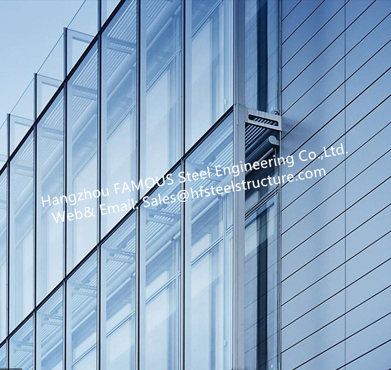 Double Glass Wall Ventilated Facade Office Building GlassCurtain Wall Stick Built System By China Maker