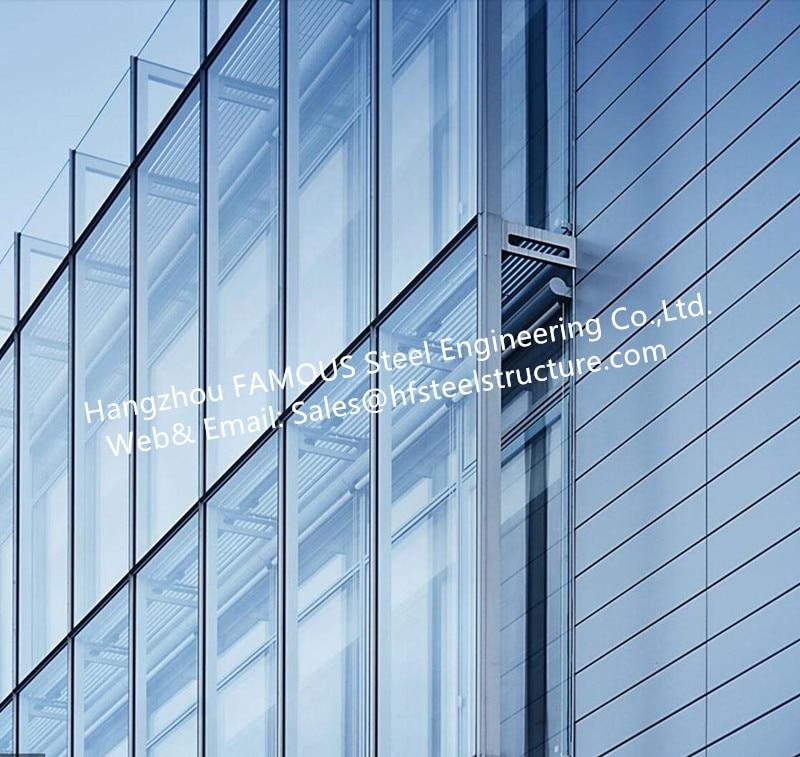 doble pared de vidrio del edificio de oficinas de fachada ventilada de pared stick incorporado sistema por china fa