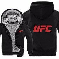 2019 Free Shipping Men Casual Wool Liner Fleece UFC Sweatshirts Pullover Man Coat UFC Hoodies Jacket Winter
