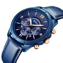 купить BIDEN Mens Watches Fashion Sport Quartz Clock Male Watch Men Top Brand Luxury Leather Waterproof Wrist Fitness Relogio Masculino по цене 2202.74 рублей