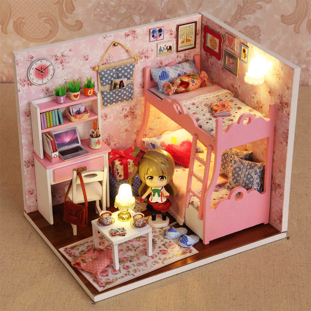 Diy Handmade Cabin House Assembled Building Model Toy Princess Birthday Gift Ideas To Send Boys And Girls