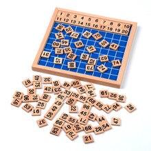 Versión familiar de Cien Bordo Matemáticas Montessori Bebé de Juguete para Niños De Madera de Aprendizaje y Educación Juguetes Para Niños Brinquedos juguetes