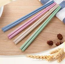 10pairs/lot Wheat Straw Chinese Chopsticks Set Eco-Friendly Reusable Chopsticks For Sushi Kids Kitchen Picnic Outdoor ENX 003 dihe wheat straw skid resistance lengthen stewed noodles chopsticks