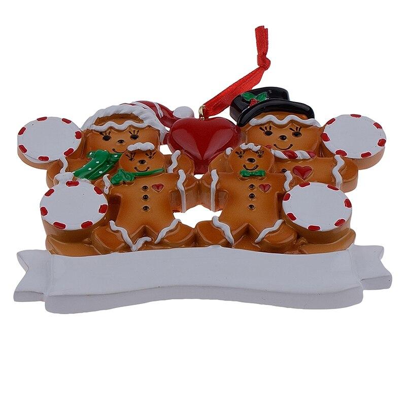 Groothandel peperkoek familie van 4 hars Kerst ornamenten met rode - Feestversiering en feestartikelen - Foto 5